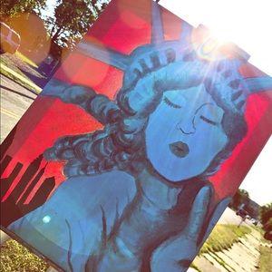 Lady liberty 🎨 painting